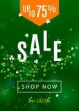Όμορφο υπόβαθρο της Ιρλανδίας για την αφίσα πώλησης ημέρας του ST Πάτρικ ` s ή το σχέδιο εμβλημάτων Ιστού διανυσματική απεικόνιση