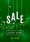 Όμορφο υπόβαθρο της Ιρλανδίας για την αφίσα πώλησης ημέρας του ST Πάτρικ ` s ή το σχέδιο εμβλημάτων Ιστού απεικόνιση αποθεμάτων