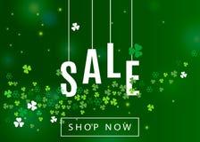 Όμορφο υπόβαθρο της Ιρλανδίας για το σχέδιο αφισών ή εμβλημάτων πώλησης ημέρας του ST Πάτρικ ` s ελεύθερη απεικόνιση δικαιώματος