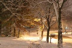 Όμορφο υπόβαθρο χειμερινής νύχτας στοκ φωτογραφία