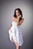 όμορφο υφασμάτων λευκό undress &ka Στοκ φωτογραφίες με δικαίωμα ελεύθερης χρήσης