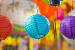 Όμορφο φανάρι με την εκλεκτική εστίαση στην κινεζική πόλη Στοκ εικόνα με δικαίωμα ελεύθερης χρήσης