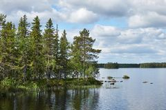 Όμορφο φινλανδικό τοπίο Στοκ Εικόνα