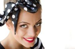 όμορφο φυσικό πορτρέτο κοριτσιών ματιών ομορφιάς makeup Στοκ εικόνα με δικαίωμα ελεύθερης χρήσης