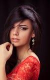 όμορφο φυσικό πορτρέτο κοριτσιών ματιών ομορφιάς makeup Στοκ Εικόνες