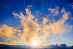 Όμορφο φυσικό τοπίο με τα δραματικές σύννεφα και τις ηλιαχτίδες Στοκ φωτογραφίες με δικαίωμα ελεύθερης χρήσης