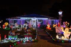 Όμορφο φως Χριστουγέννων στο Χιούστον, Τέξας Στοκ Εικόνα