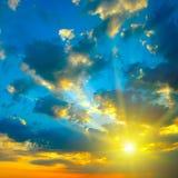 όμορφο φωτεινό ηλιοβασίλ& Στοκ φωτογραφία με δικαίωμα ελεύθερης χρήσης