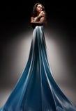 όμορφο φόρεμα brunette μακρύ Στοκ εικόνες με δικαίωμα ελεύθερης χρήσης