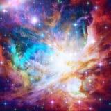 Όμορφο φλεμένος νεφέλωμα αστεριών απεικόνιση αποθεμάτων