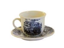 Όμορφο φλυτζάνι καφέ πορσελάνης Στοκ εικόνα με δικαίωμα ελεύθερης χρήσης