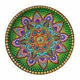 όμορφο χέρι mandala που χρωματίζεται στοκ φωτογραφία