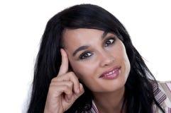 όμορφο χαμόγελο ιδέας brunette Στοκ εικόνες με δικαίωμα ελεύθερης χρήσης