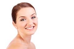 όμορφο χαμόγελο brunette στοκ εικόνα με δικαίωμα ελεύθερης χρήσης