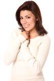 όμορφο χαμόγελο brunette Στοκ Εικόνα