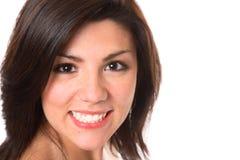 όμορφο χαμόγελο brunette Στοκ φωτογραφίες με δικαίωμα ελεύθερης χρήσης