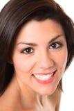 όμορφο χαμόγελο brunette Στοκ Φωτογραφίες