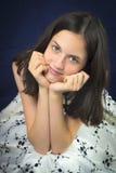 όμορφο χαμόγελο πορτρέτου κοριτσιών εφηβικό Στοκ εικόνα με δικαίωμα ελεύθερης χρήσης