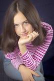 όμορφο χαμόγελο πορτρέτου κοριτσιών εφηβικό Στοκ φωτογραφία με δικαίωμα ελεύθερης χρήσης