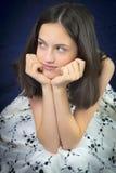 όμορφο χαμόγελο πορτρέτου κοριτσιών εφηβικό Στοκ Εικόνες