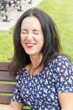 όμορφο χαμόγελο brunette Στοκ Εικόνες