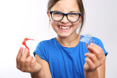 Όμορφο χαμόγελο, orthodontics στοκ εικόνα
