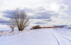 Όμορφο χειμερινό τοπίο σε μικρού χωριού Kula, Σερβία, Eurupa στοκ φωτογραφία με δικαίωμα ελεύθερης χρήσης