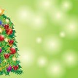 Όμορφο χριστουγεννιάτικο δέντρο για τον εορτασμό Χαρούμενα Χριστούγεννας Στοκ Εικόνες