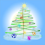 όμορφο χριστουγεννιάτικο δέντρο στοκ φωτογραφία με δικαίωμα ελεύθερης χρήσης
