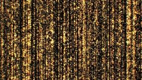 Όμορφο χρυσό υπόβαθρο πολυτέλειας με τα μειωμένα αστέρια και τα σημεία άνευ ραφής Περιτυλιγμένη τρισδιάστατη ζωτικότητα των αφηρη διανυσματική απεικόνιση
