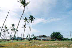 Όμορφο χωριό ψαράδων τοπίου παραδοσιακό που βρίσκεται σε Terengganu, Μαλαισία Στοκ Εικόνες