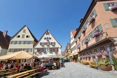 Όμορφο χωριό Dinkelsbuhl Στοκ φωτογραφία με δικαίωμα ελεύθερης χρήσης