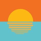 Όμορφο ωκεάνιο εικονίδιο ηλιοβασιλέματος Στοκ φωτογραφία με δικαίωμα ελεύθερης χρήσης