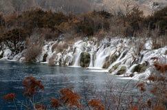 όμορφο ύδωρ κοιλάδων jiuzhai στοκ εικόνες