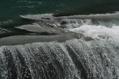 όμορφο ύδωρ μπριζολών πτώση&sigm Στοκ Φωτογραφίες