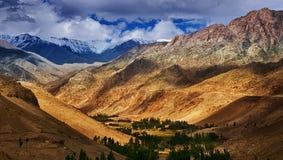 Όμορφο δύσκολο τοπίο Ladakh, Τζαμού και Κασμίρ, Leh, Ινδία Στοκ εικόνες με δικαίωμα ελεύθερης χρήσης