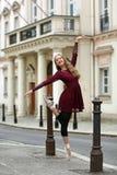 Όμορφο ballerina στην οδό Στοκ Εικόνα
