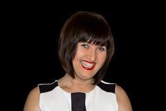 Όμορφο brunette με τα μπλε μάτια Στοκ φωτογραφία με δικαίωμα ελεύθερης χρήσης