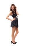 όμορφο brunette που θέτει το στ&omicron Στοκ Εικόνες