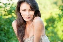 όμορφο brunette προκλητικό Στοκ Εικόνες