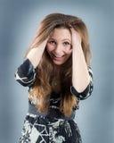 όμορφο brunette συναισθηματικό Στοκ φωτογραφία με δικαίωμα ελεύθερης χρήσης
