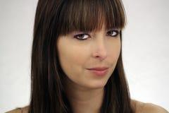 όμορφο brunette 3 headshot Στοκ Φωτογραφία