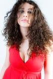 όμορφο brunette headshot Στοκ Εικόνες