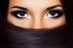 όμορφο brunette portraite Στοκ Φωτογραφία