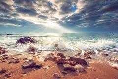 όμορφο cloudscape πέρα από τη θάλασσα Στοκ εικόνα με δικαίωμα ελεύθερης χρήσης