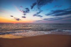 όμορφο cloudscape πέρα από τη θάλασσα Στοκ Φωτογραφίες