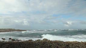 Όμορφο cloudscape πέρα από το ωκεάνιο βίντεο φιλμ μικρού μήκους