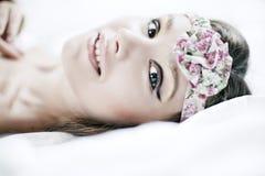 όμορφο face girl spa στοκ φωτογραφία