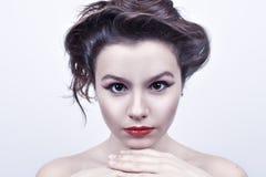 όμορφο face girl spa στοκ φωτογραφίες