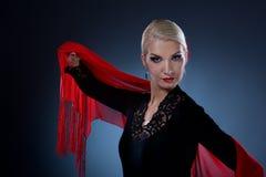 όμορφο flamenco χορευτών Στοκ φωτογραφία με δικαίωμα ελεύθερης χρήσης